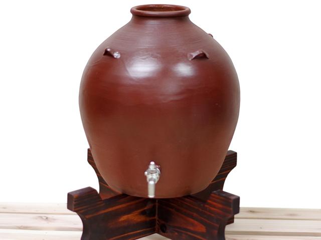 耳壺5升甕カメ、サーバー、正面木台のせ