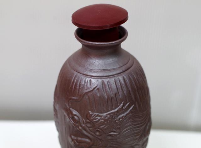 陶器徳利、カラカラ、おちょこ、箱セット、ゴム栓付、徳利アップ
