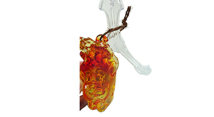 横<正規品>限定品。縁起の良い琉球ガラス製シーサー(オレンジ)4色用意(オレンジ、青色、水色、緑色)Made in OKINAWA 沖縄製品