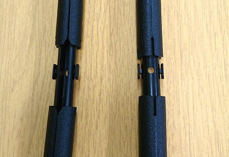 見本2中巾タペストリー棒(黒)サイズ確認。お好みの布を壁掛けに
