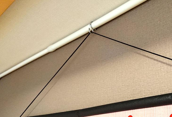 壁掛け2中巾タペストリー棒(黒)集合写真2。お好みの布を壁掛けに